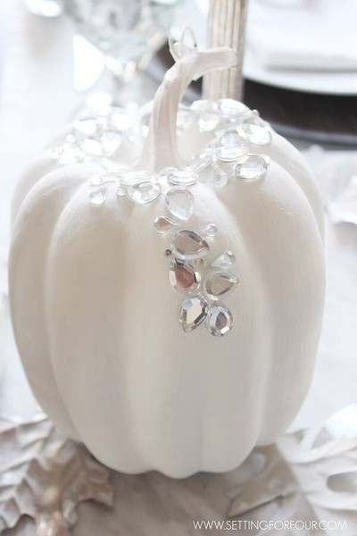 White Sparkly Pumpkin