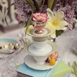 Stacked Tea Cup Center Pieces