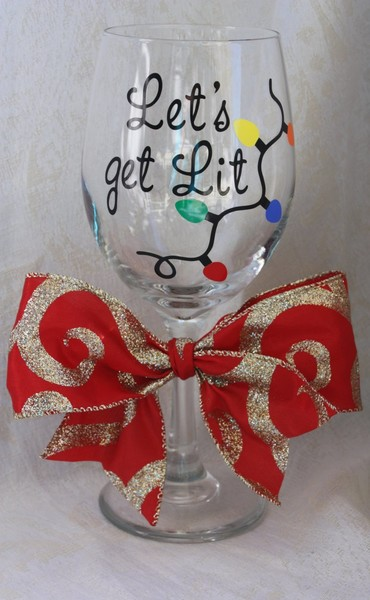 Festive Wine Glass