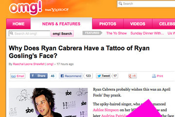 Guess Which Celebrity Has a Ryan Gosling Tattoo on His Leg!