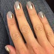 Gold And Silver Manicure