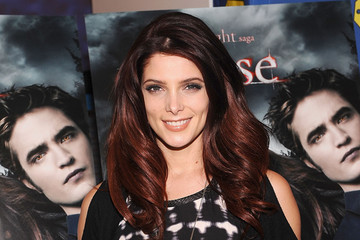 Ashley Greene Goes Reddish for the Holidays