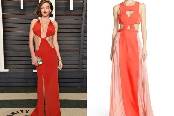 Inspired By Miranda Kerrs Vanity Fair Oscar Party Dress Red