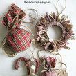 DIY Homespun Fabric Christmas Ornament