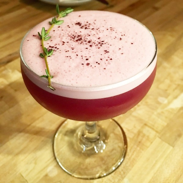 BEET & THYME PISCO SOUR – Comedor (Boston)
