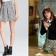 Zooey Deschanel's Black-and-White Printed Skirt on 'New Girl'