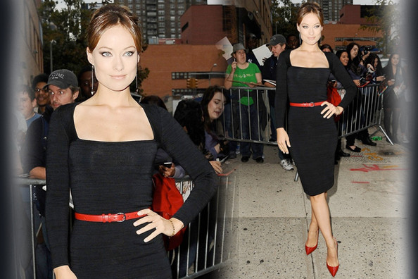 Look Of The Day Olivia Wildes Little Black Dress Look Of The Day