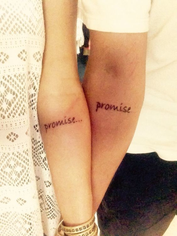 it s a promise matching tattoos for couples that truly