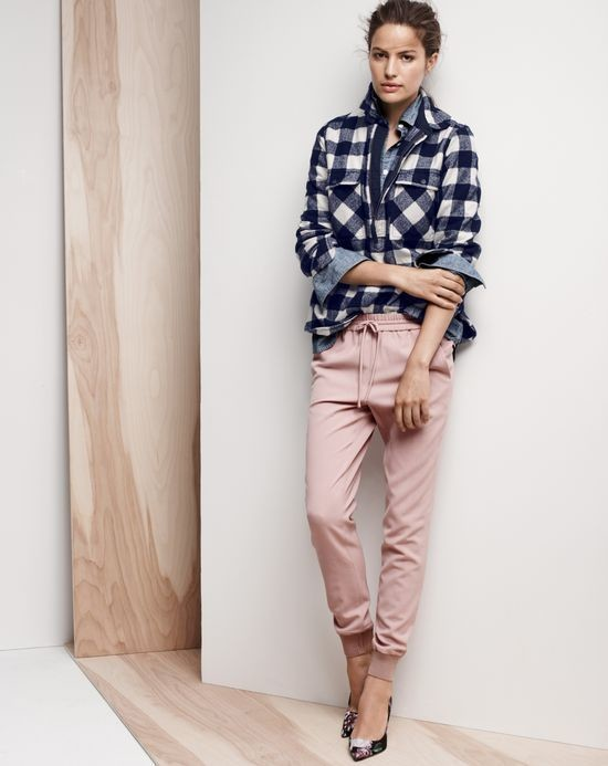 How to wear 8 tricky trends and still look like a lady for Buffalo check flannel shirt jacket