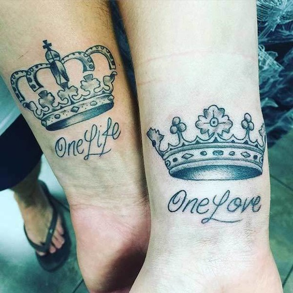 one life one love matching tattoos for couples that