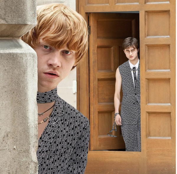 """Ron Weasley And Harry Potter In """"Gryffindior"""" Spring/Summer 2018"""