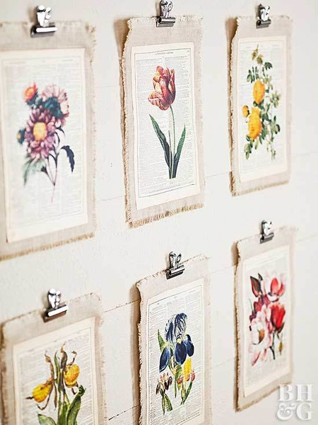 DIY Printed Flower Hangings