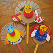 Make turkey puppets