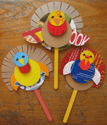 Make Turkey Puppets Thanksgiving Crafts For Kids That