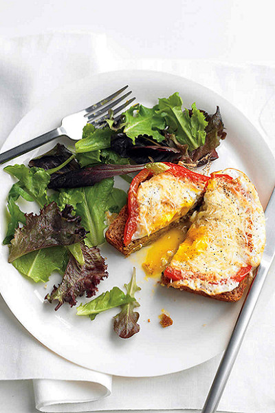 15-Minute Bell Pepper Egg-In-A-Hole