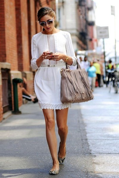 little white dress proof olivia palermo is the street style queen of pinterest livingly. Black Bedroom Furniture Sets. Home Design Ideas