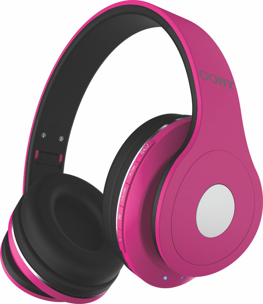 COBY Headphones Bluetooth Pink