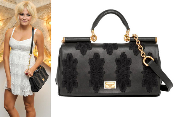 Leather And Lace Pixie Lott S Dolce Gabbana Miss Sicily Bag