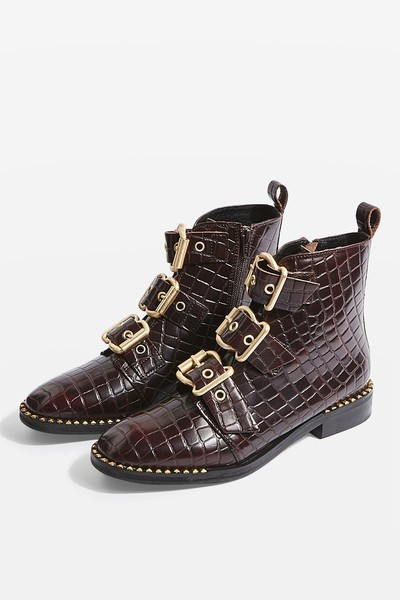 Croc Buckle Boots