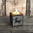Antique Etching Candle Block