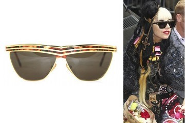 Lady Gaga Is a Spectacle in Vintage Shades