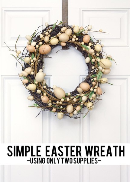 Minimalist Easter Wreath