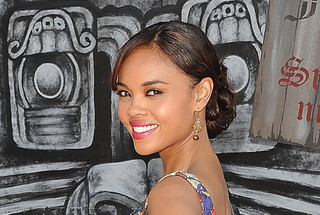 Sharon Leal's Casually Looped Updo