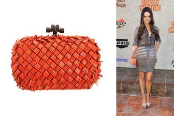 Knotty by Nature: Mila Kunis Carries a Bottega Veneta Clutch