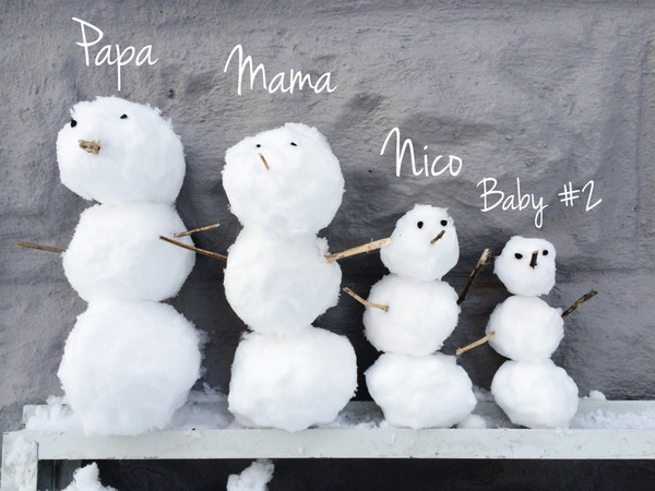 Build a family of snow people