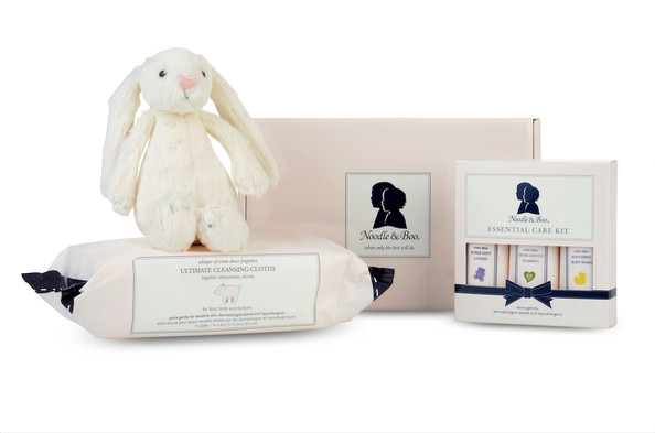 A Gift Set to Keep Baby Clean and Entertained