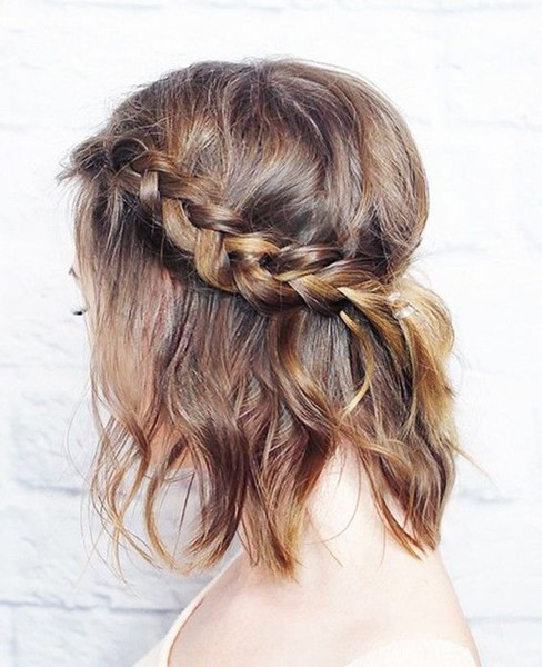 Tousled Braided Crown