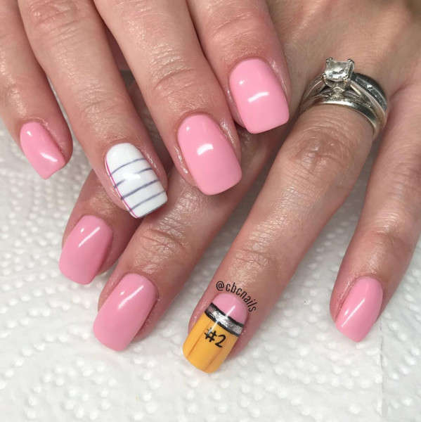 Wow Your Friends With These Back To School Nail Art Designs