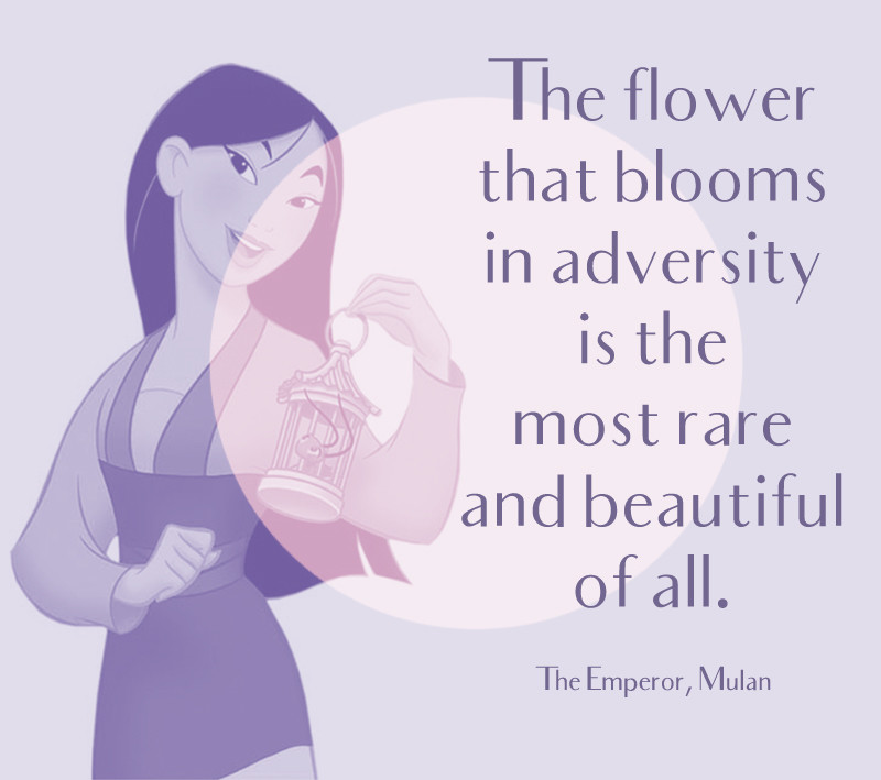 The Flower That Blooms In Adversity Is The Most Rare And Beautiful
