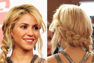 How to Style Shakira's Braided Half-Halo