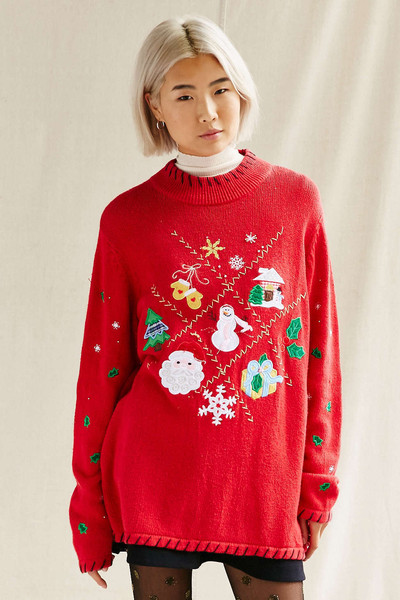 Urban Outfitters Ugly Christmas Sweater.Urban Renewal Vintage Ugly Holiday Sweater The Ultimate