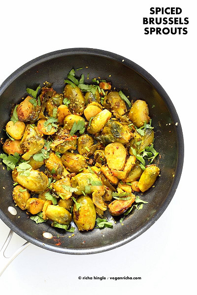Pan Roasted Brussels Sprouts with Cumin