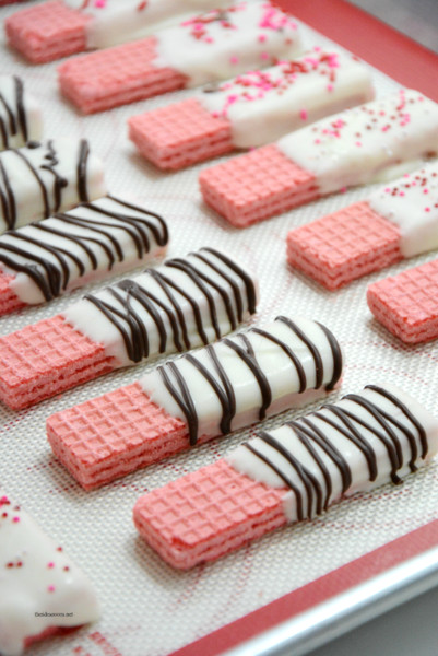 Chocolate-Dipped Wafer Cookies