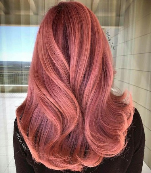Peachy Pink Rose Gold Hair Ideas That Ll Have You Dye Ing For This