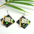 Sushi Plate Earrings