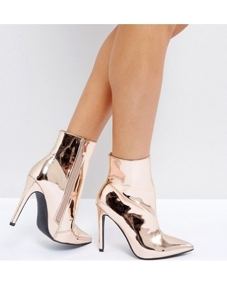 Rose Gold Ankle Boots