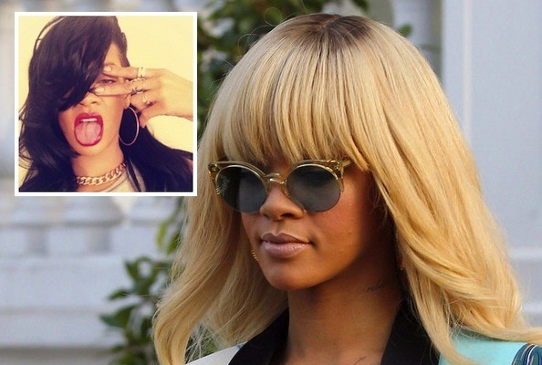 Rihanna's Hair Goes From Blonde to Black