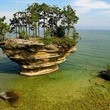 Turnip Rock, Lake Huron, Michigan