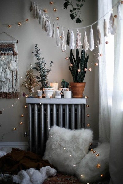 cozy boho corner - Boho Christmas Decor