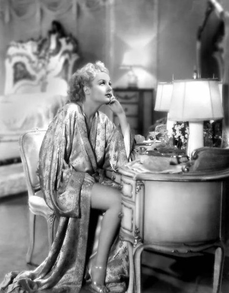 Carole Lombard In A Silk Robe Old Hollywood Style