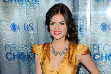 Lucy Hale Is Perfectly Pretty with a Classic Side Chignon