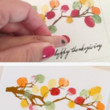 Use those cute fingers for leaf prints