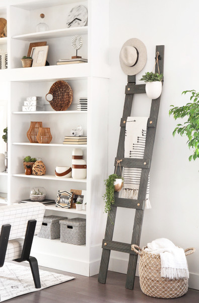 diy blanket ladder 27 creative diy wall decor ideas that will