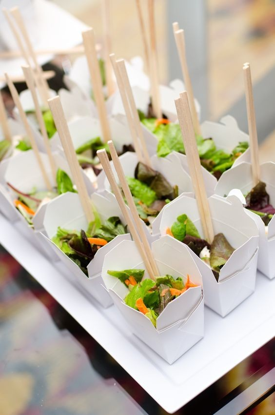 To go chinese chicken salads epic wedding food ideas for for Asian canape ideas