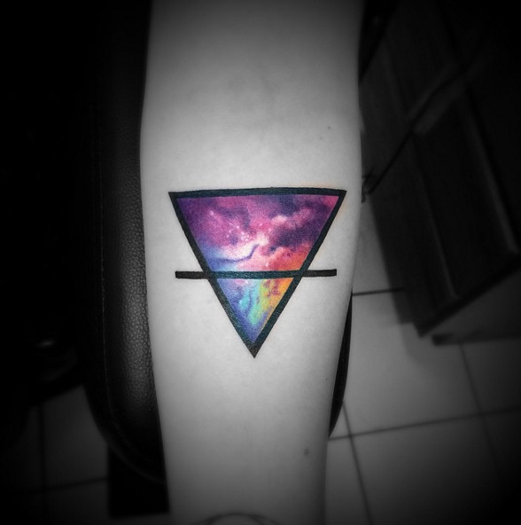 From Earth To Outer Space Triangular Tattoos That Beautifully