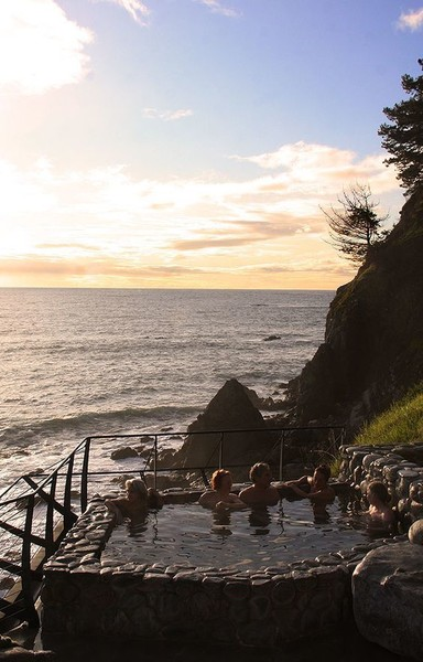 Esalen Hot Springs in Big Sur, California